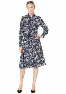 Ralph Lauren Printed Crepe Shirtdress