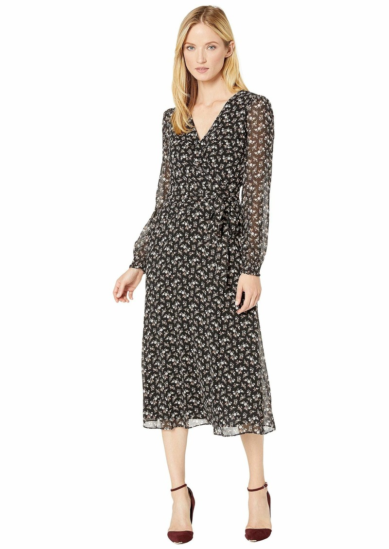 Ralph Lauren Printed Georgette Holden Long Sleeve Day Dress