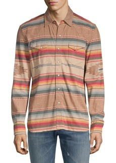 Ralph Lauren Printed Jersey Button-Down Shirt