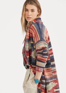 Ralph Lauren Print Linen-Blend Sweater