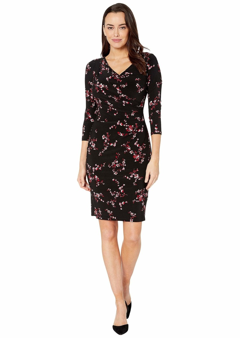 Ralph Lauren Printed Matte Jersey-Dress
