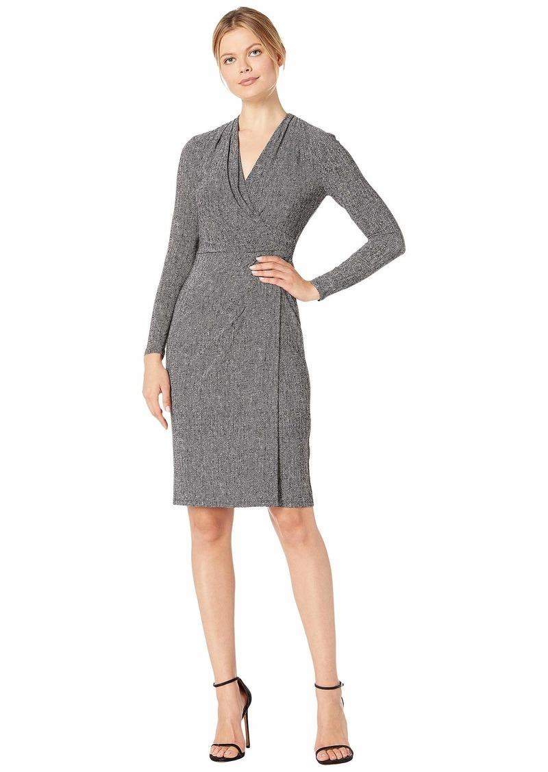 Ralph Lauren Printed Matte Jersey Faria Long Sleeve Day Dress