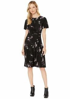 Ralph Lauren Printed Matte Jersey Vemalyn Short Sleeve Day Dress