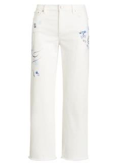 Ralph Lauren Printed Straight-Leg Jean