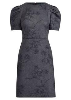 Ralph Lauren Puff-Sleeve Ponte Dress