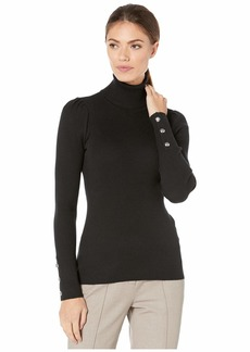 Ralph Lauren Puff-Sleeve Turtleneck Sweater