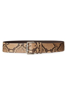 Ralph Lauren Python Double Prong Belt