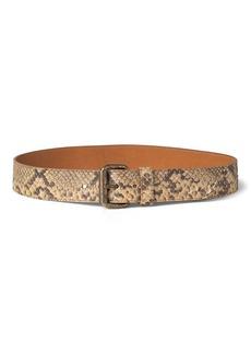 Ralph Lauren Python Roller-Buckle Belt