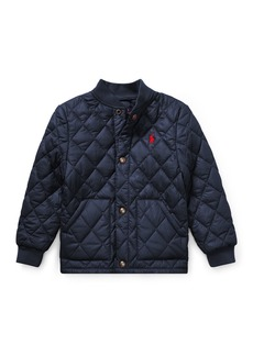 Ralph Lauren Quilted Baseball-Collar Jacket
