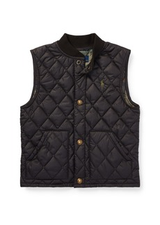Ralph Lauren Quilted Baseball-Collar Vest