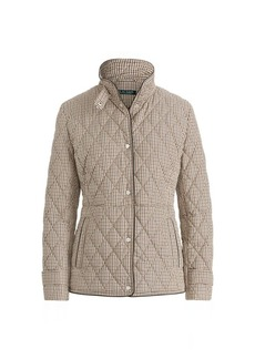 Ralph Lauren Quilted Houndstooth Jacket