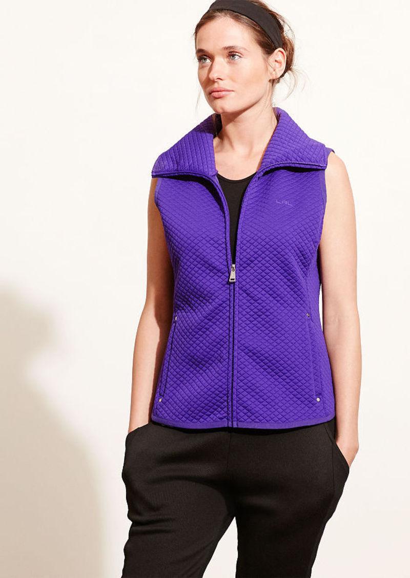 Ralph Lauren Quilted Jacquard-Knit Vest