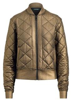 Ralph Lauren Quilted Metallic Bomber Jacket