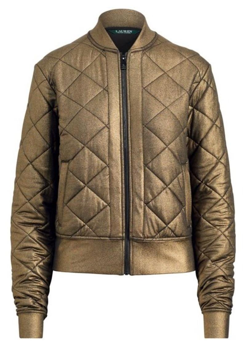 d68d464206c Ralph Lauren Quilted Metallic Bomber Jacket