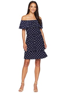 Ralph Lauren R4 Classic Dot Lorelei Short Sleeve Day Dress