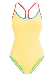 Ralph Lauren Racerback One-Piece Swimsuit