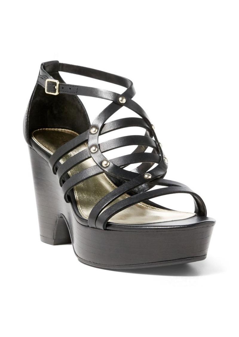Ralph Lauren Raegan Calfskin Wedge Sandal