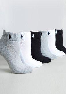 Ralph Lauren + Ankle Sport Socks 6-Pack
