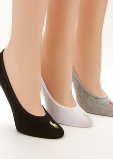 Ralph Lauren + Cotton Shoe Liners 3-Pack