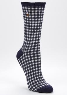Ralph Lauren + Gingham Trouser Socks