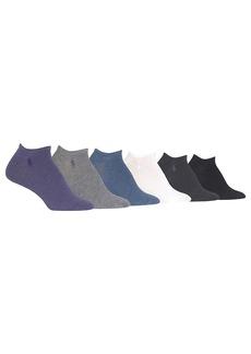 Ralph Lauren + Low-Cut Sport Flat Knit Ped Socks 6-Pack