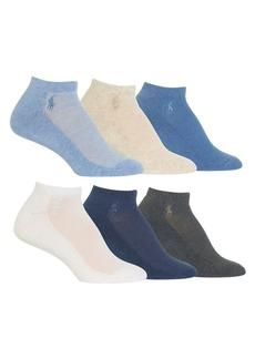 Ralph Lauren 6-Pack Low-Cut Cushioned Socks