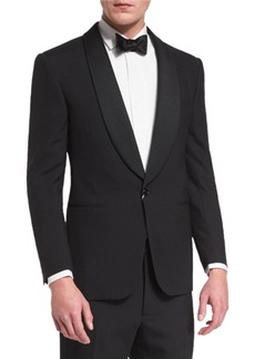 Ralph Lauren Anthony Shawl-Lapel Wool Tuxedo  Black