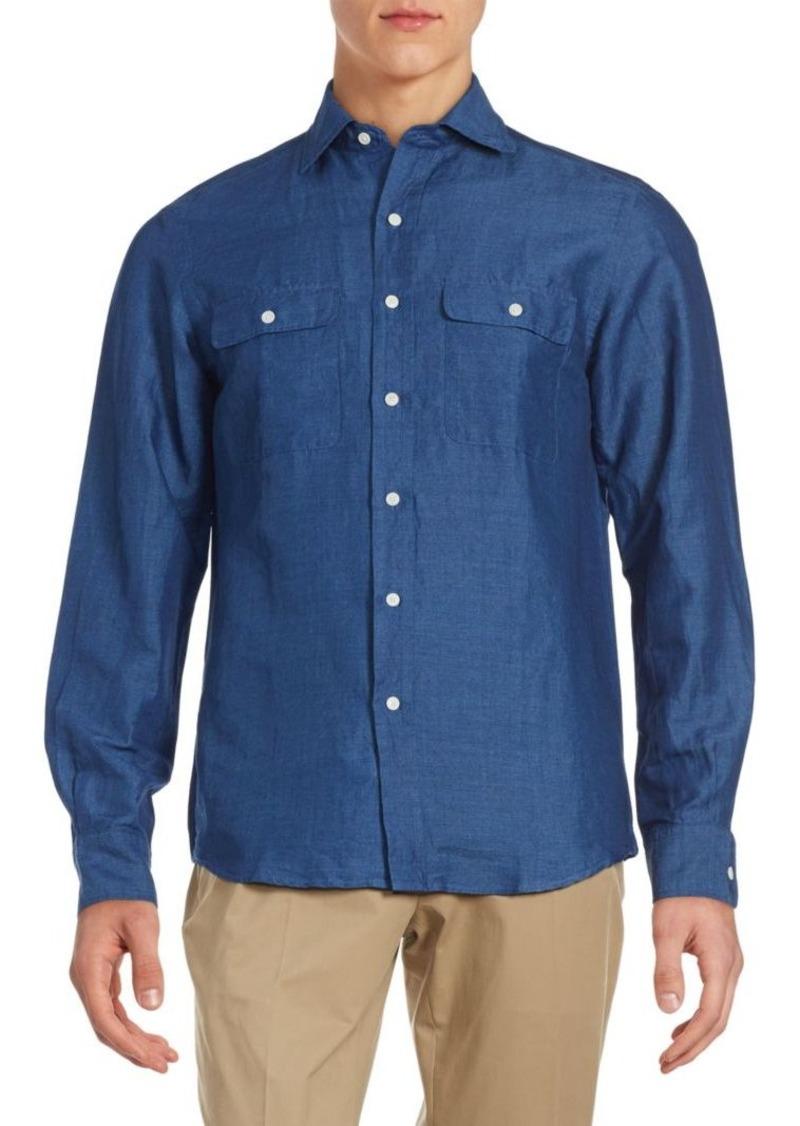 Ralph lauren ralph lauren purple label aston classic fit for Preppy button down shirts