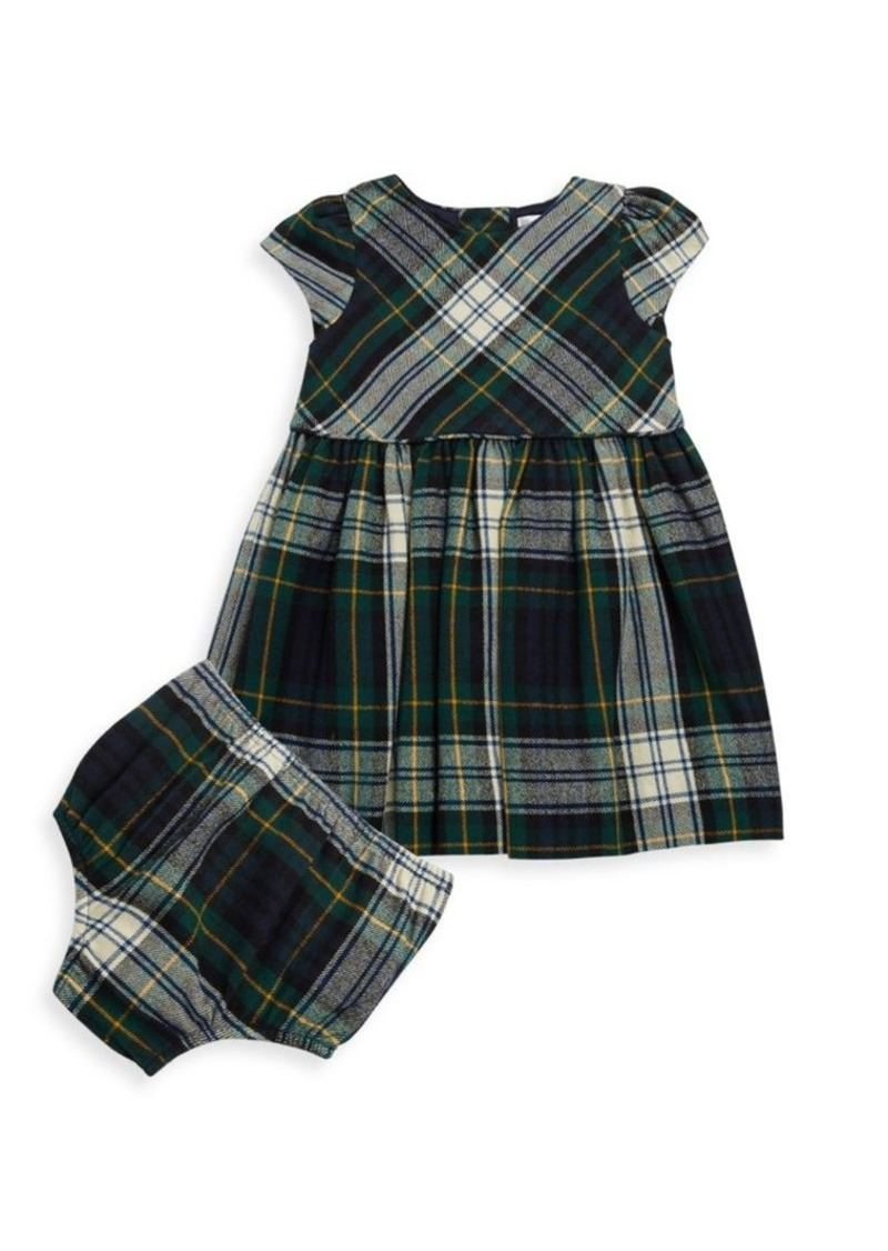e7ebef59 Baby Girl's Two-Piece Cotton Fit-&-Flare Dress and Bloomers Set