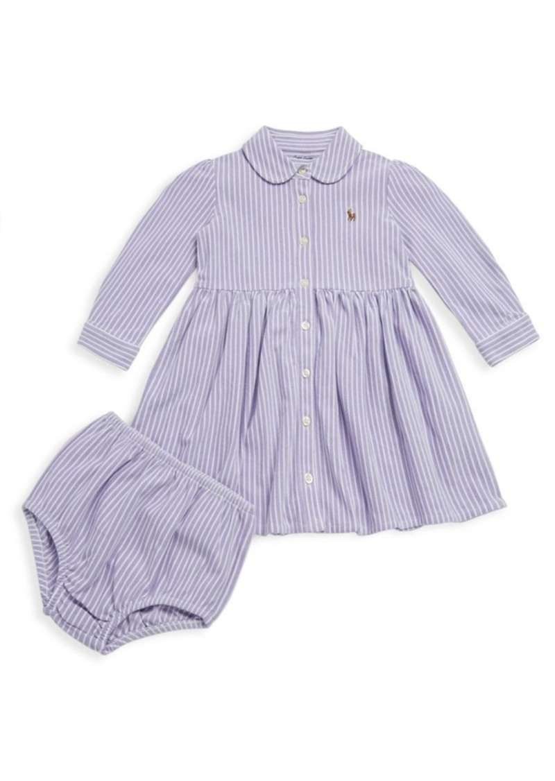 43784b7f4 Ralph Lauren Ralph Lauren Baby Girl s Two-Piece Striped Polo Dress ...