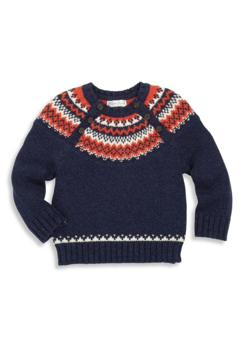 Ralph Lauren Ralph Lauren Baby's Cotton Fair Isle Sweater ...
