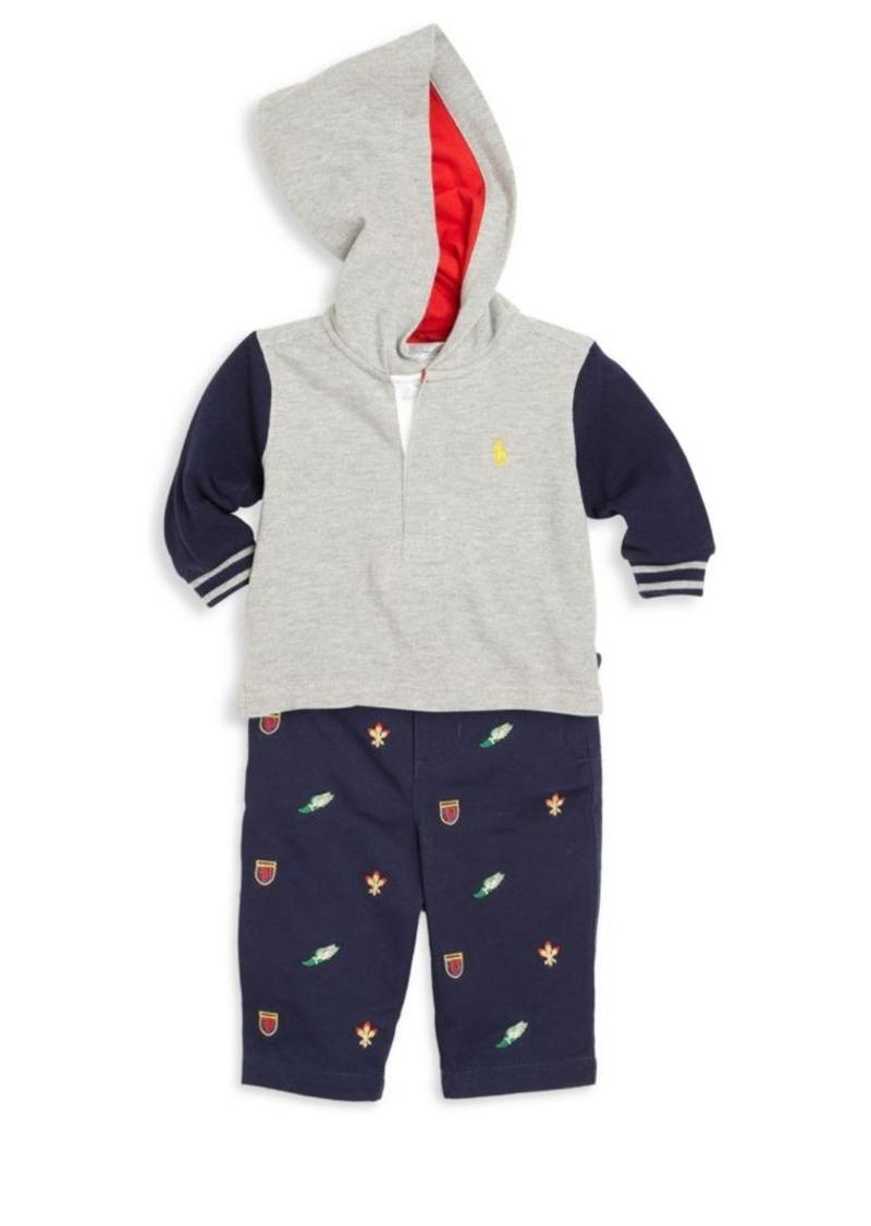 Ralph Lauren Baby's Cotton Hoodie, Pants & Belt Set