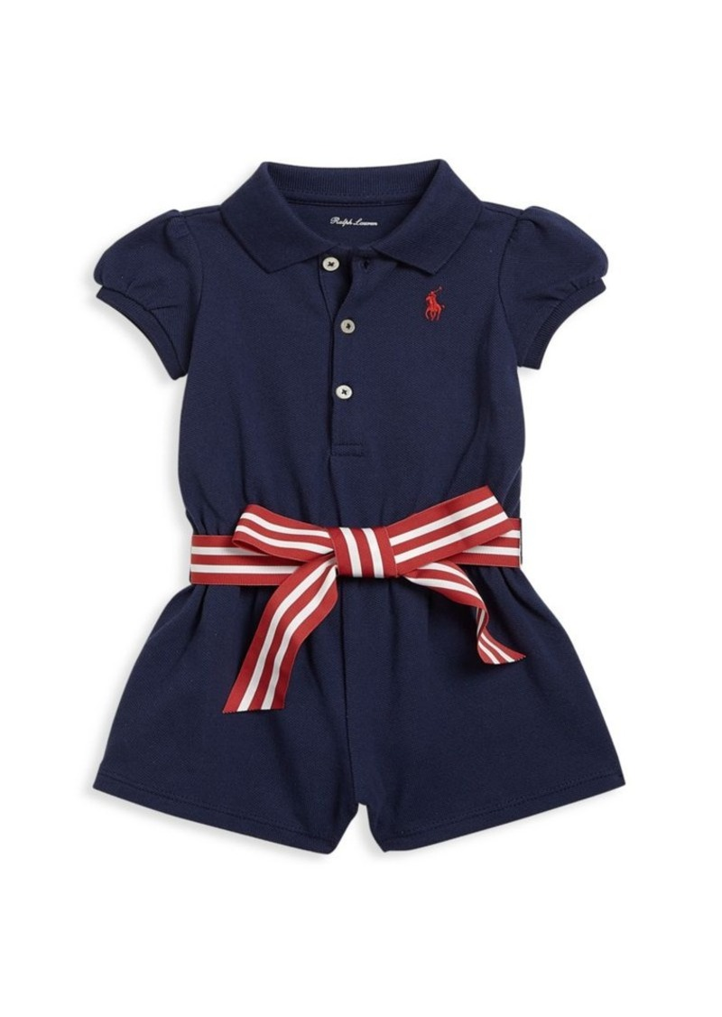 Ralph Lauren Baby Girls Polo Romper