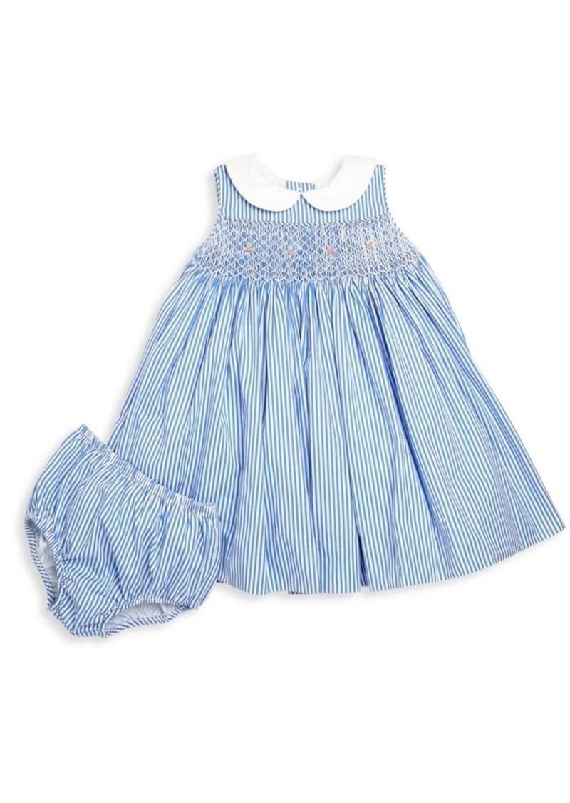 79fd2e3d5 Baby's Two-Piece Bengal Stripe Cotton Dress & Bloomers Set. Ralph Lauren