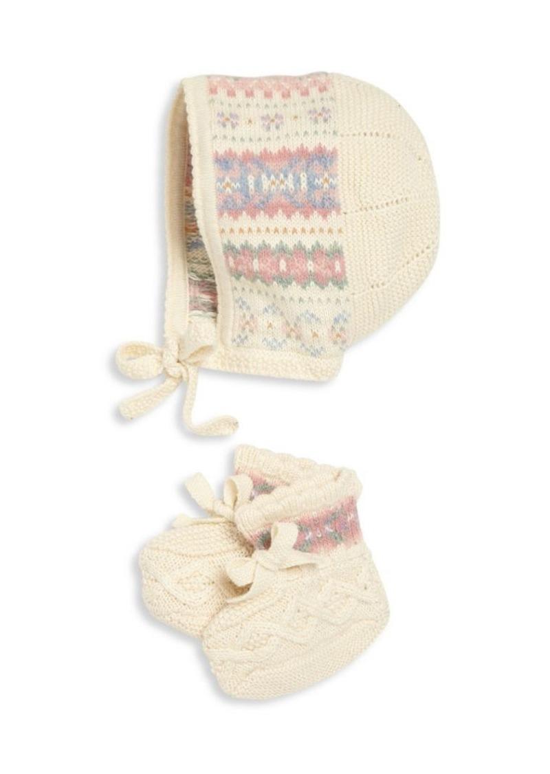 Ralph Lauren Baby's Two-Piece Bonnet & Bootie Set