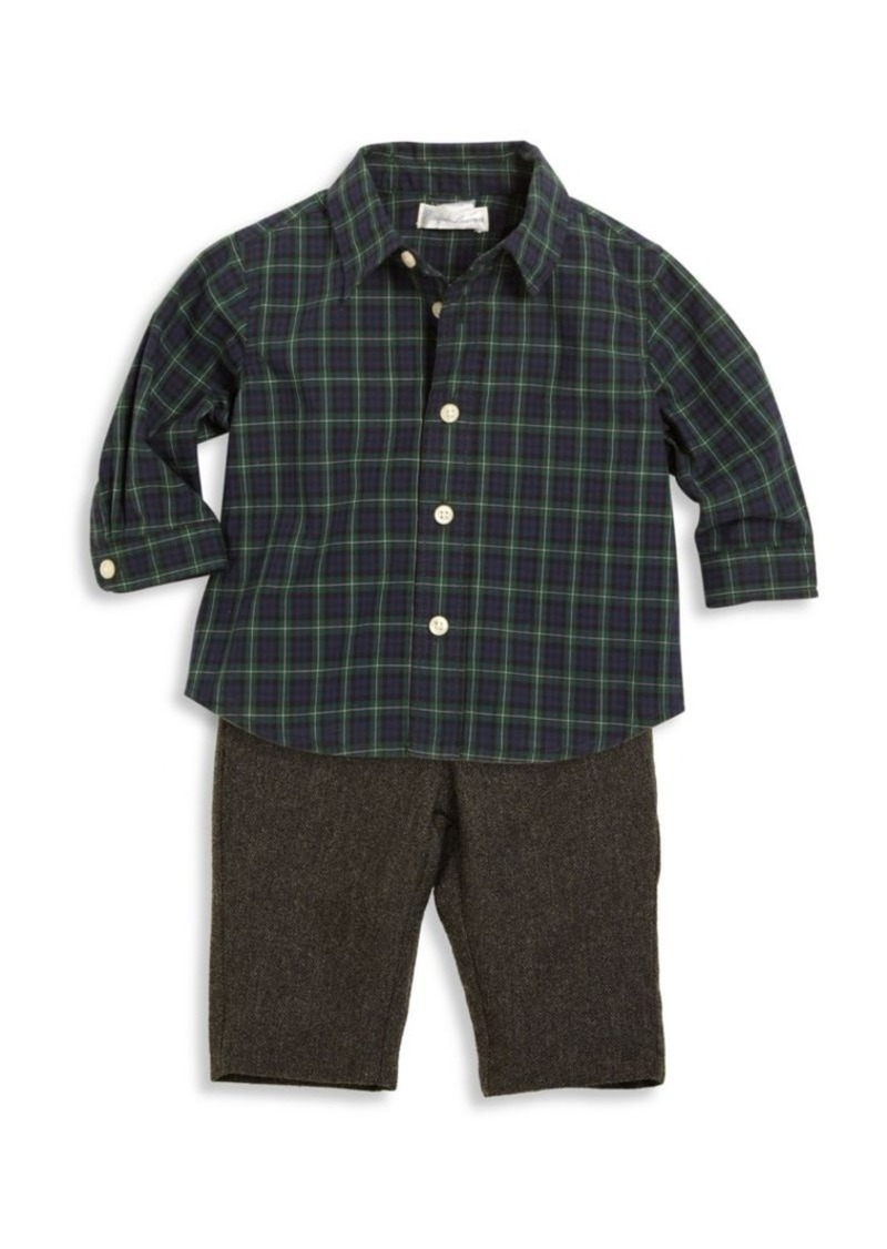fd8253b81 Ralph Lauren Baby s Two-Piece Cotton Poplin Shirt   Merino Wool Pants Set