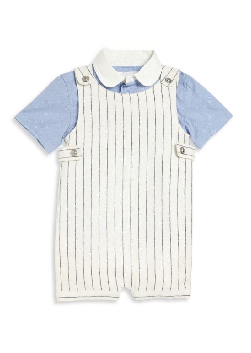 Ralph Lauren Baby's Two-Piece Shirt & Overall Set