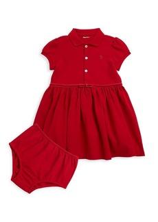 Ralph Lauren Baby's Two-Piece Short Sleeve Polo Dress Set