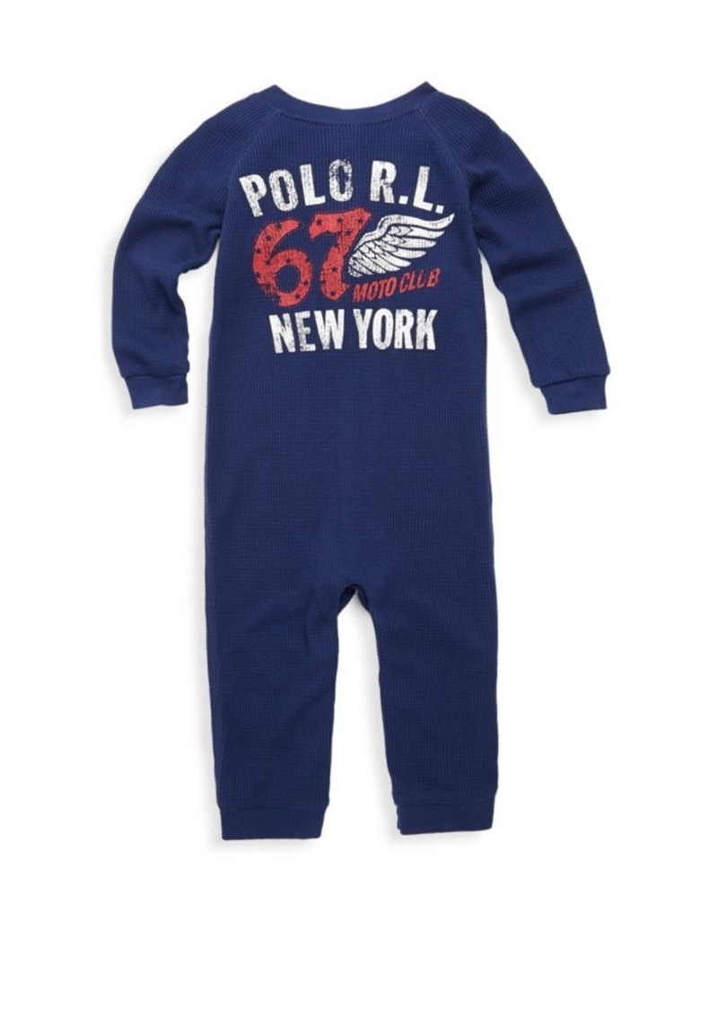 2ffbce07e0 Baby's Waffle-Knit Coverall