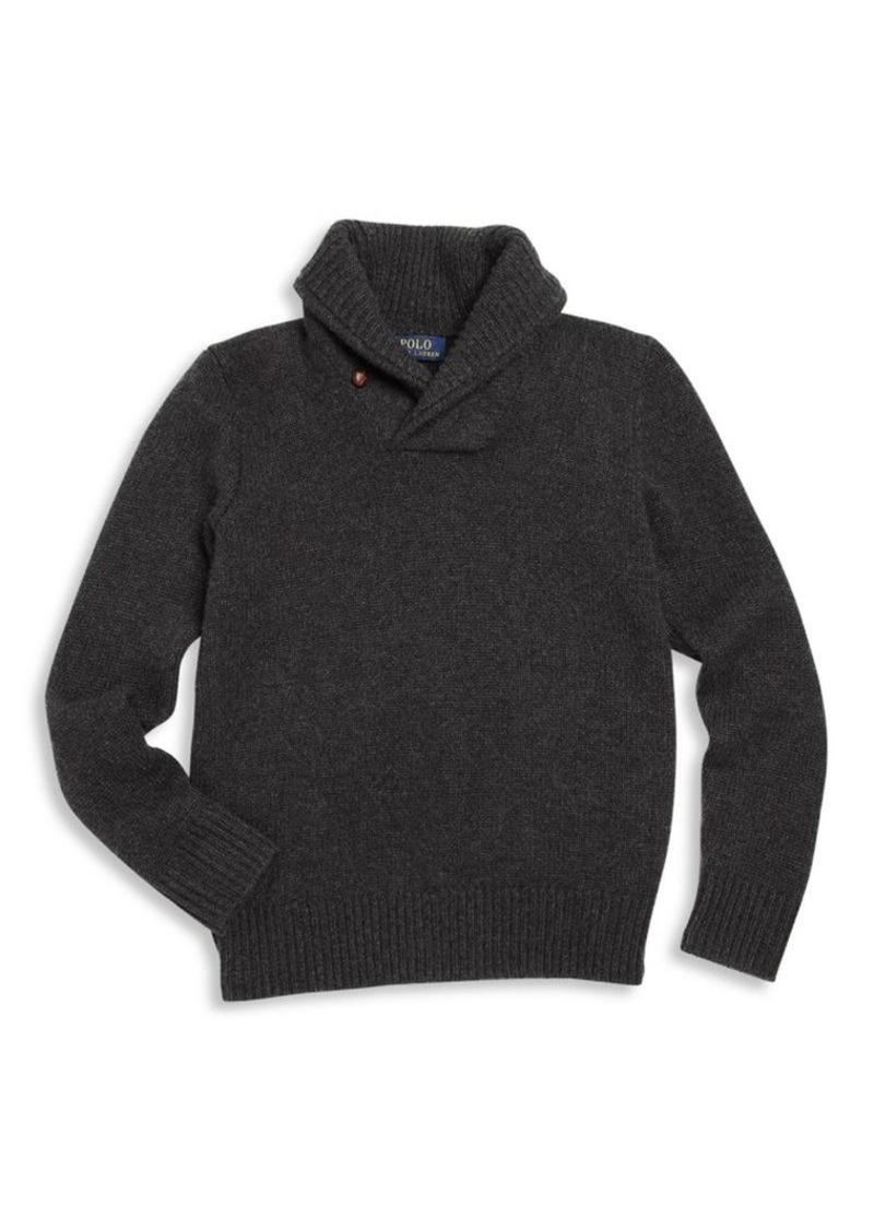Ralph Lauren Boy's Cashmere Shawl Collar Sweater