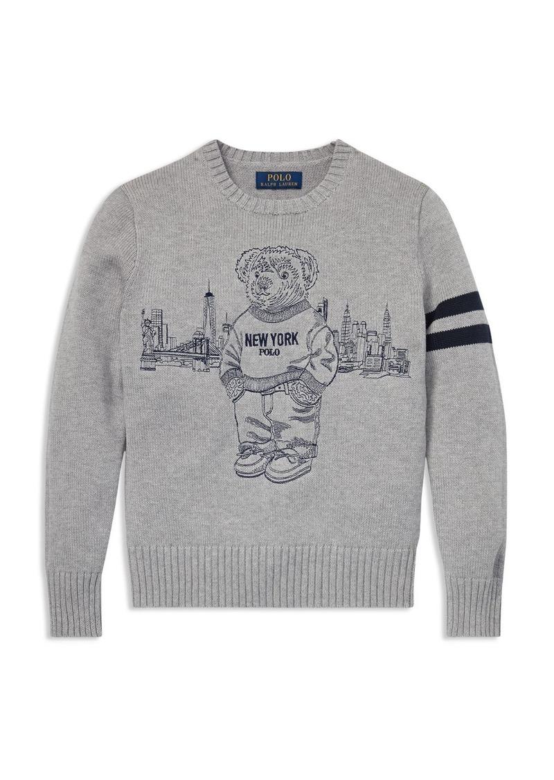 Boys' New Sweater Polo Bear Big York Kid 80wOknXP