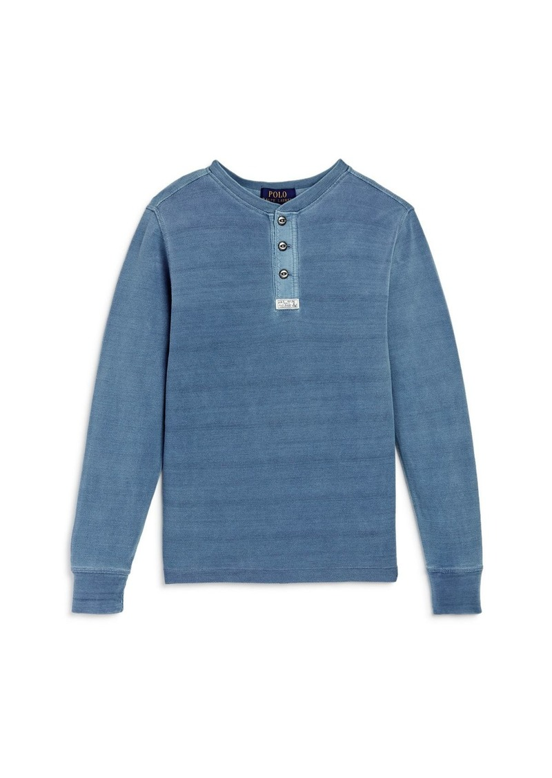 Ralph Lauren Boys' Piqu� Henley Shirt - Big Kid