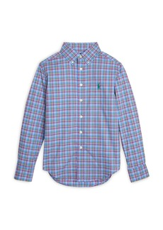 Ralph Lauren Boys' Plaid Button Down Shirt - Big Kid