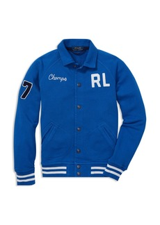 Ralph Lauren Boys' Terry Baseball Jacket - Big Kid