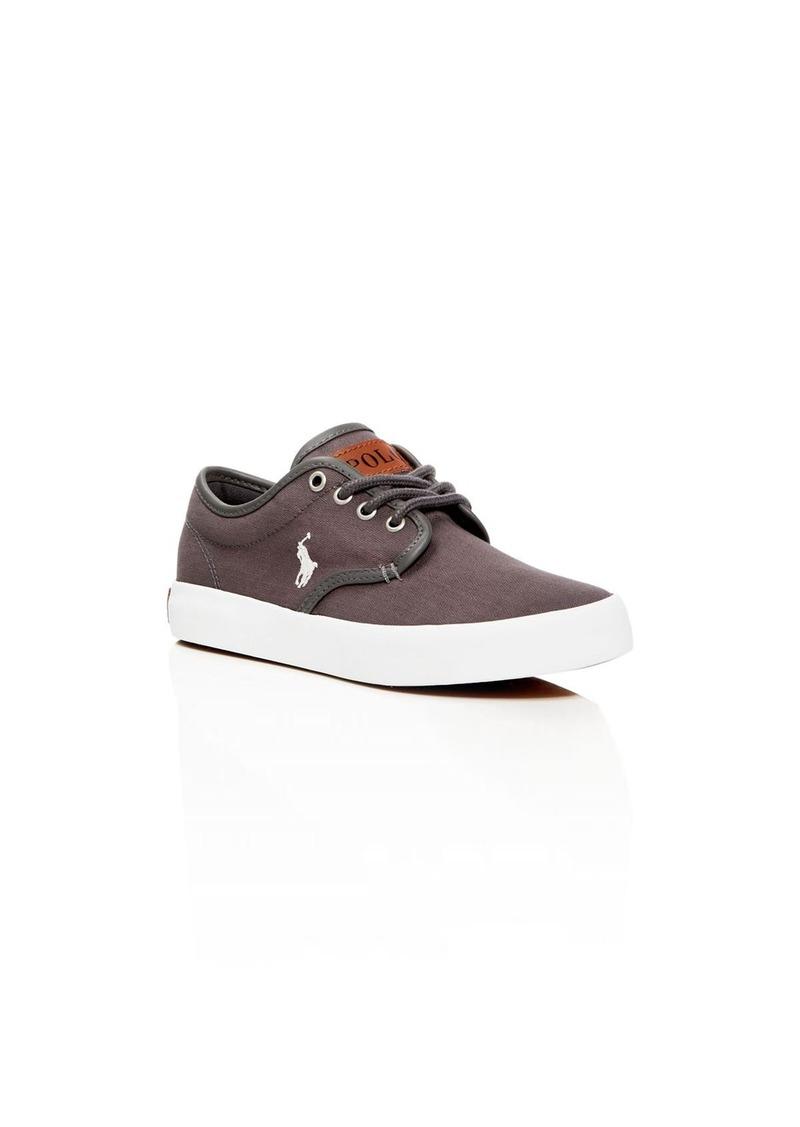 Ralph Lauren Childrenswear Boys' Waylon Lace Up Sneakers - Toddler, Little Kid