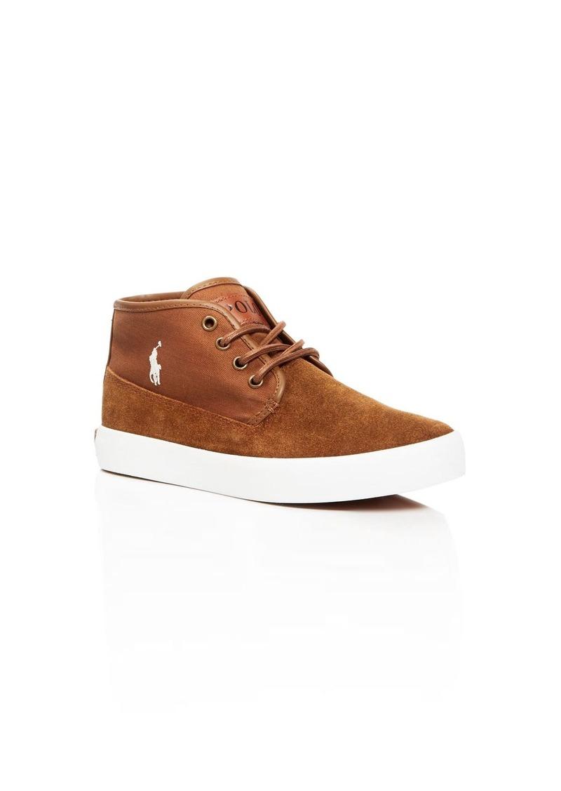 Ralph Lauren Boys' Waylon Mid Top Sneakers - Toddler, Little Kid