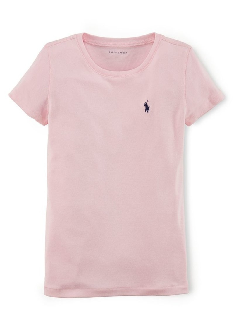 Ralph Lauren Childrenswear Girl's Cotton-Blend Crewneck T-Shirt