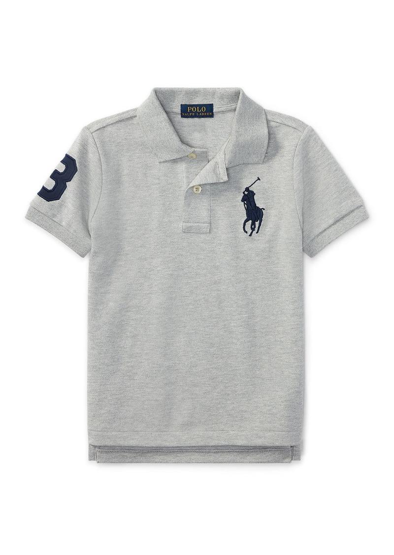 Ralph Lauren Childrenswear Big Pony Pique Knit Polo  Size 4-7