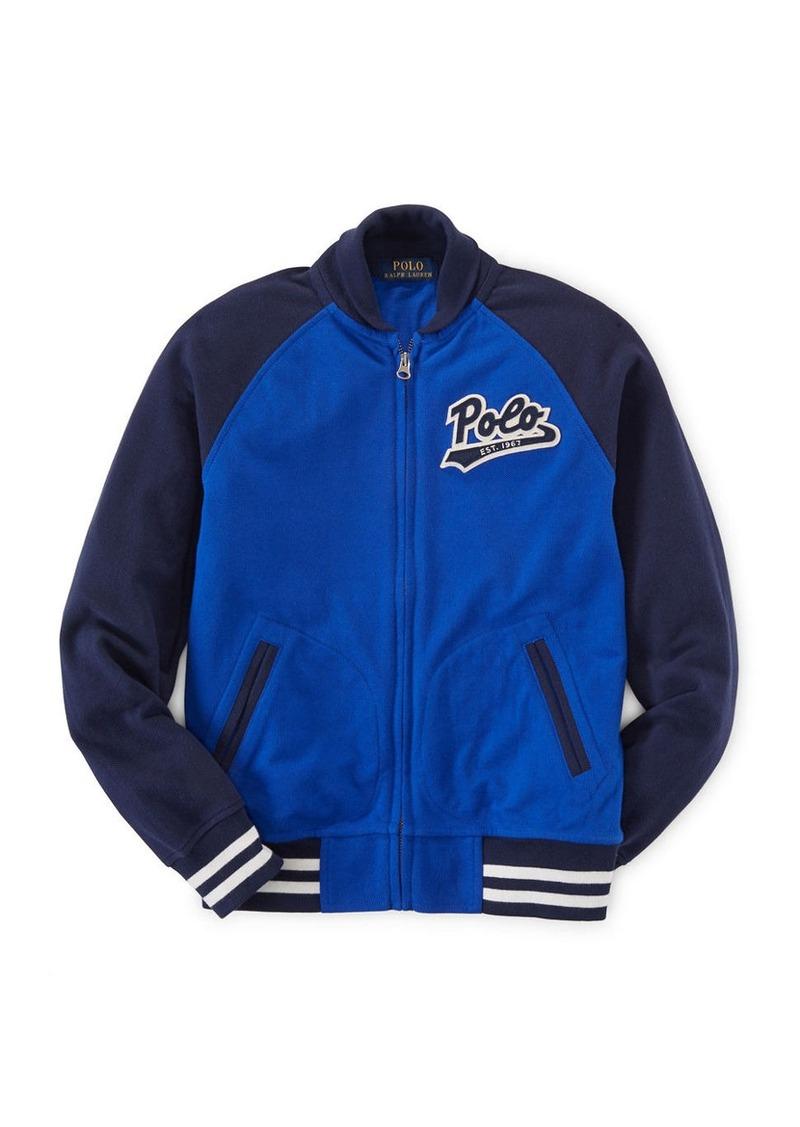 RALPH LAUREN CHILDRENSWEAR Boys 8-20 Boy's Cotton Mesh Baseball Jacket