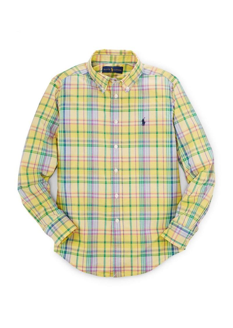 RALPH LAUREN CHILDRENSWEAR Boys 8-20 Checked Button Shirt